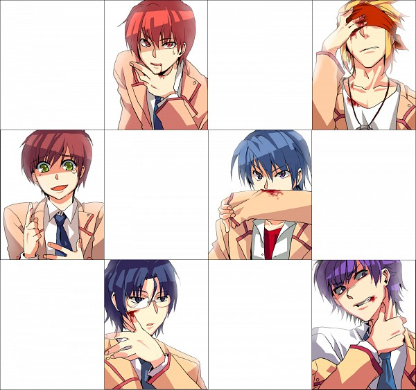 Tags: Anime, Kaki (Pixiv854423), Angel Beats!, Takamatsu (Angel Beats!), Noda (Angel Beats!), Ooyama (Angel Beats!), Otonashi Yuzuru, Hinata Hideki, TK (Angel Beats!), Pixiv