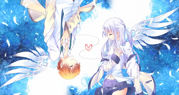 Tags: Anime, Pixiv Id 2047043, Angel Beats!, Tachibana Kanade, Otonashi Yuzuru, Facebook Cover