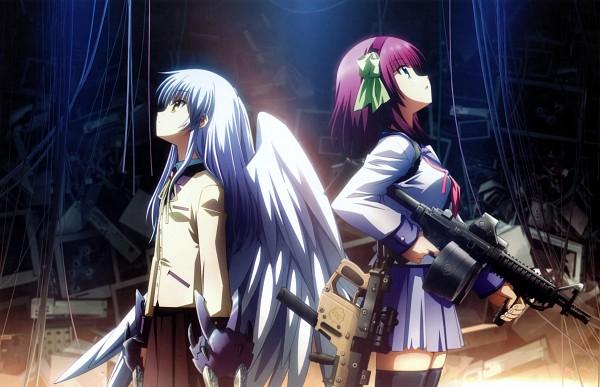 Tags: Anime, Hirata Katsuzou, P.A. Works, Angel Beats!, Tachibana Kanade, Nakamura Yuri, Scan, Official Art