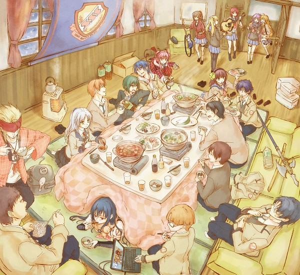 Tags: Anime, Robata, Angel Beats!, Nakamura Yuri, Hisako (Angel Beats!), Shiina Eri, Yusa (Angel Beats!), Matsushita (Angel Beats!), Yui (Angel Beats!), TK (Angel Beats!), Sekine Shiori, Iwasawa Masami, Otonashi Yuzuru