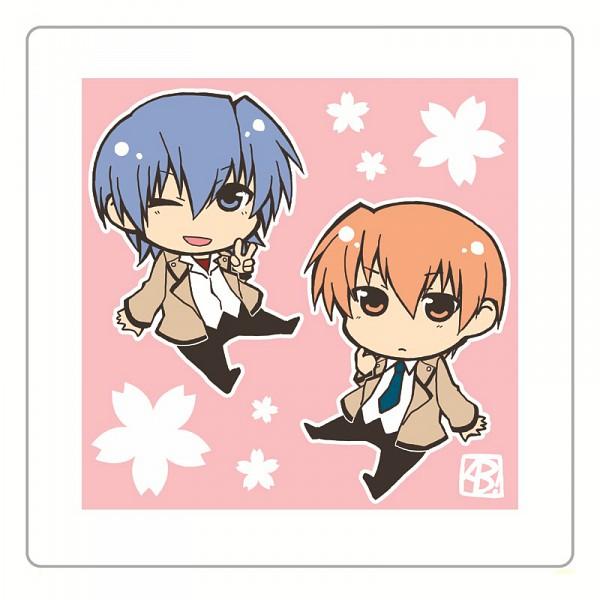 Tags: Anime, Moriko224, Angel Beats!, Otonashi Yuzuru, Hinata Hideki, Pixiv