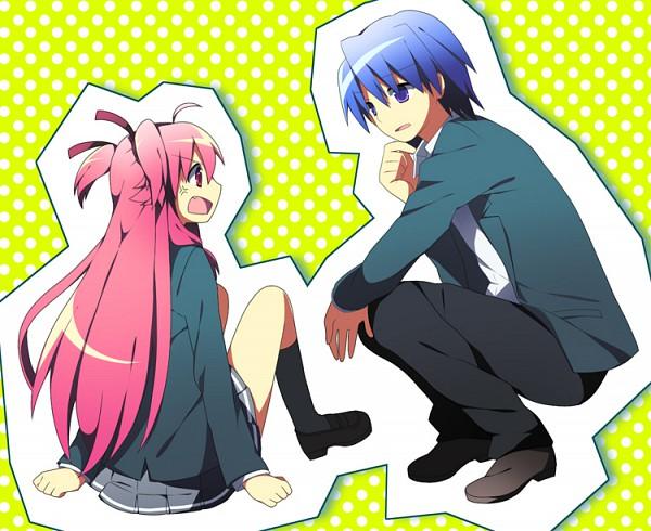 Tags: Anime, Soranagi, Angel Beats!, Yui (Angel Beats!), Hinata Hideki, Pixiv, Fanart