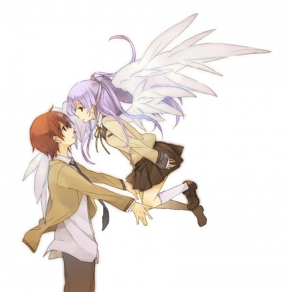 Tags: Anime, Yuzu (pixiv288987), Angel Beats!, Otonashi Yuzuru, Tachibana Kanade, Fanart From Pixiv, Pixiv, Fanart