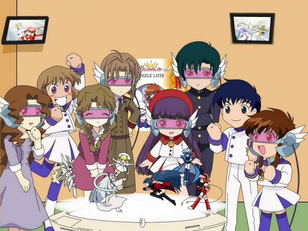 Tags: Anime, Angelic Layer, Tamayo Kizaki, Hikaru (Angelic Layer), Shirahime (Angelic Layer), Kobayashi Kotaro, Jounouchi Sai, Athena (Angelic Layer), Suzuka (Angelic Layer), Wizard (Angelic Layer), Shuko Suzuhara, Kobayashi Hatoko, Blanche (Angelic Layer)