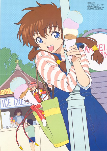 Tags: Anime, Angelic Layer, Hikaru (Angelic Layer), Misaki Suzuhara, Light Pole, Magazine (Source), Scan, Mobile Wallpaper, Official Art
