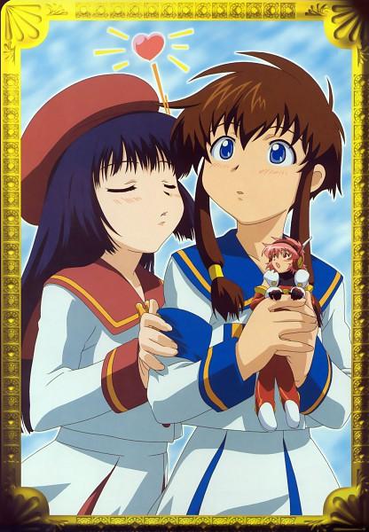 Tags: Anime, Angelic Layer, Hikaru (Angelic Layer), Kobayashi Hatoko, Misaki Suzuhara, Official Art, Scan