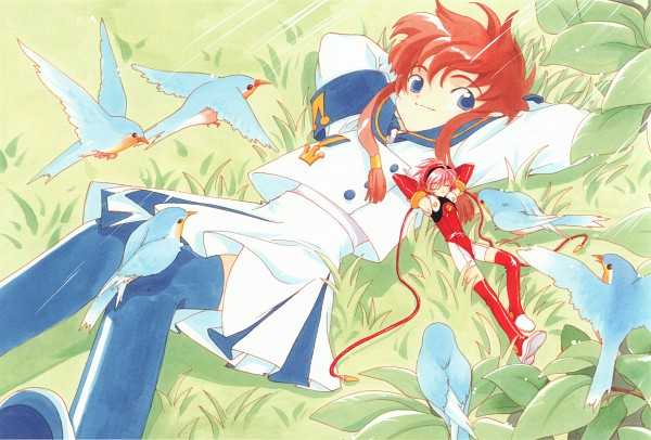 Tags: Anime, CLAMP, Angelic Layer, Misaki Suzuhara, Hikaru (Angelic Layer), Official Art, Scan