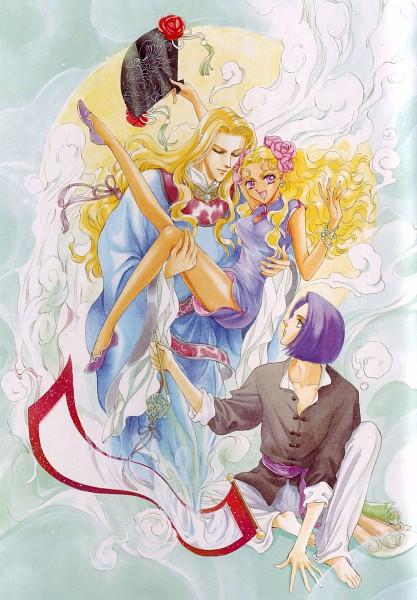Tags: Anime, Angelique, Rachel Hart, Sei-Lan, Julious, Official Art