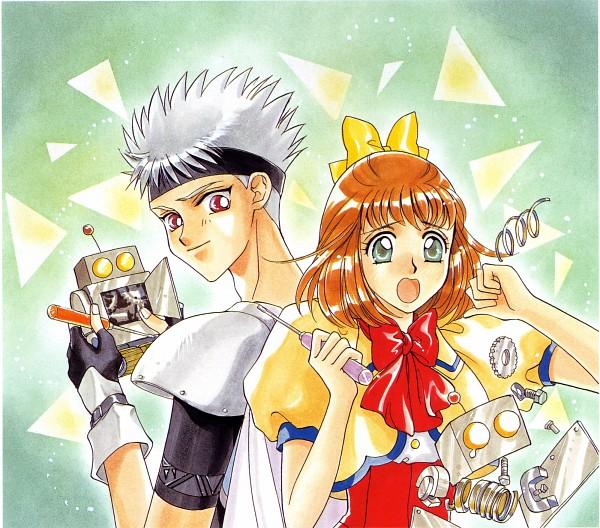 Tags: Anime, Angelique, Angelique Collet, Zephel, Mechanic, Official Art, Scan