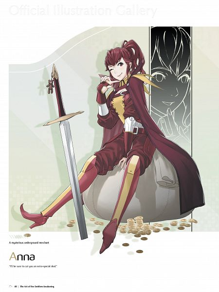 Tags: Anime, Kozaki Yuusuke, Intelligent Systems, The Art of Fire Emblem: Awakening, Fire Emblem: Kakusei, Anna (Fire Emblem), Official Art
