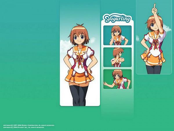 Tags: Anime, Red Duck, Yogurting, Anna (Yogurting), Orange Skirt, Official Art