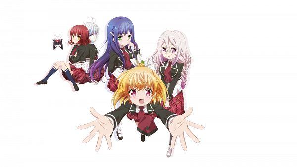 Tags: Anime, Ooshima Miwa, Silver Link, Anne Happy, Hagyuu Hibiki, Kumegawa Botan, Hibarigaoka Ruri, Hanakoizumi An, Ekoda Ren, Wallpaper, PNG Conversion, Official Art