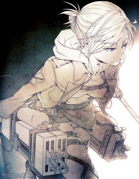 Tags: Anime, Ayi, Attack on Titan, Annie Leonhardt, Pixiv, Fanart, Fanart From Pixiv