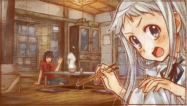 Tags: Anime, Sakino Shingetsu, Ano Hi Mita Hana no Namae o Bokutachi wa Mada Shiranai., Yadomi Jinta, Honma Meiko, Pixiv, We Still Don't Know The Name Of The Flower We Saw That Day