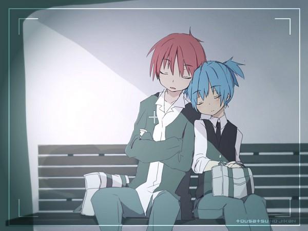 Tags: Anime, Miyashita (Pixiv 3568937), Ansatsu Kyoushitsu, Akabane Karma, Shiota Nagisa, Pixiv, Fanart, Assassination Classroom