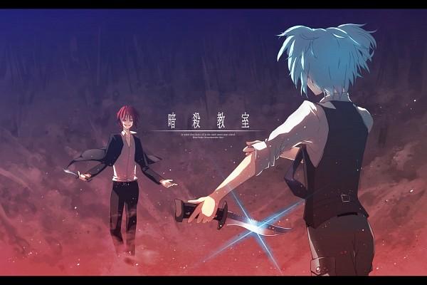 Tags: Anime, Pixiv Id 245740, Ansatsu Kyoushitsu, Shiota Nagisa, Akabane Karma, Pixiv, Fanart, Assassination Classroom