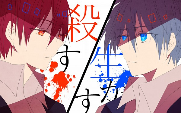 Tags: Anime, Pixiv Id 9239859, Ansatsu Kyoushitsu, Akabane Karma, Shiota Nagisa, 1600x1000 Wallpaper, Wallpaper, Fanart, Fanart From Pixiv, Pixiv, Assassination Classroom