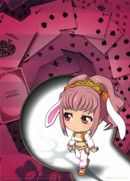 Tags: Anime, CODE GEASS: Hangyaku no Lelouch, Code Geass: Nunnally in Wonderland, Code Geass in Wonderland, Anya Alstreim, Official Art, Mobile Wallpaper, Scan