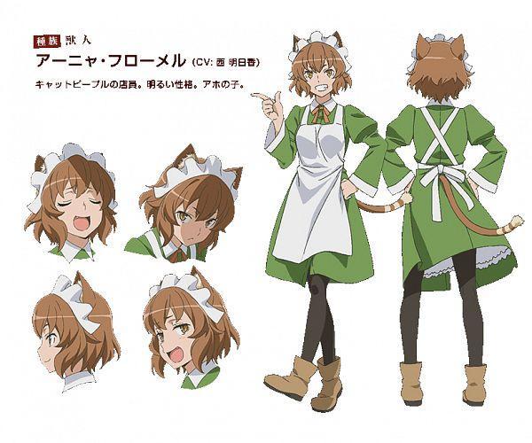 Tags: Anime, Kimoto Shigeki, J.C.STAFF, Dungeon ni Deai wo Motomeru no wa Machigatteiru no Darou ka, Anya Fromel, Official Art, Character Sheet, Cover Image