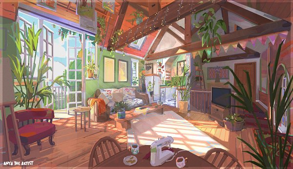 Tags: Anime, Anya Jo Elvidge, Roomscape, ArtStation, Wallpaper