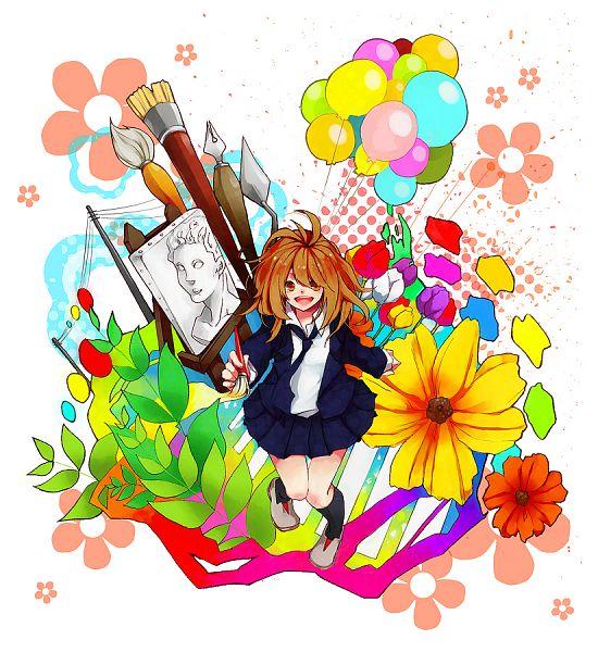 Tags: Anime, Anzu (astro75), Painting (Object), Penbrush, Pixiv, Original