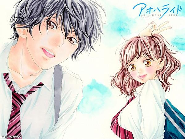 Tags: Anime, Sakisaka Io, Ao Haru Ride, Yoshioka Futaba, Mabuchi Kou, Wallpaper, Official Art, Official Wallpaper, Blue Spring Ride