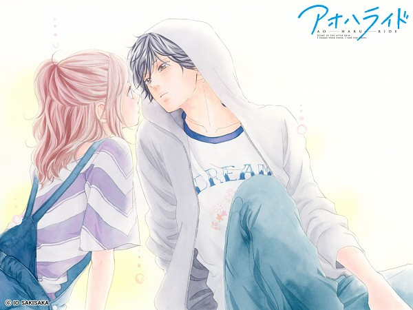 Tags: Anime, Sakisaka Io, Ao Haru Ride, Yoshioka Futaba, Mabuchi Kou, Official Art, Official Wallpaper, Wallpaper, Blue Spring Ride