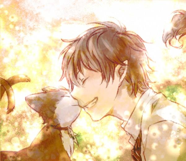 Tags: Anime, sahato, Ao no Exorcist, Kuro (Ao no Exorcist), Okumura Rin, Pixiv, Fanart, PNG Conversion, Blue Exorcist