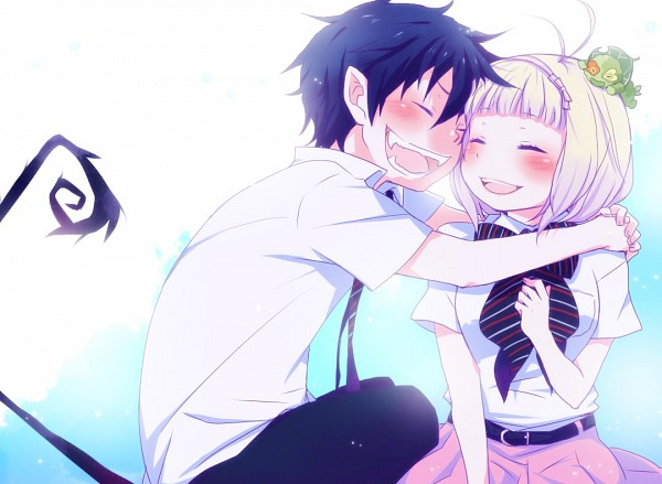Tags: Anime, Sunnyspot (Mangaka), Ao no Exorcist, Okumura Rin, Ni, Moriyama Shiemi, Blue Exorcist
