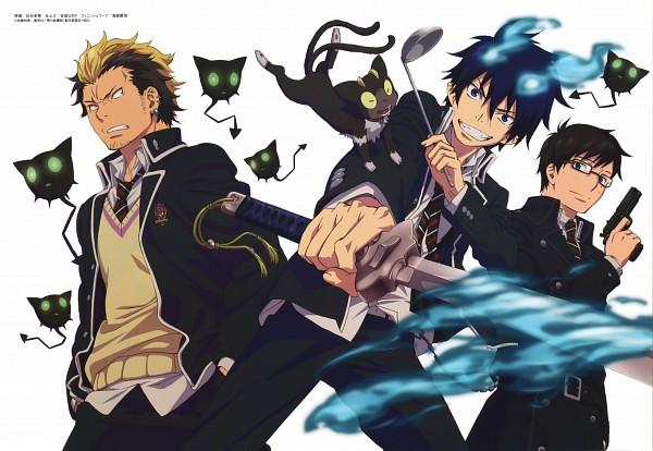 Tags: Anime, Sakou Yukie, A-1 Pictures, Ao no Exorcist, Suguro Ryuji, Coal Tar, Okumura Yukio, Okumura Rin, Kuro (Ao no Exorcist), Familiar (Mythology), Scan, Official Art, Blue Exorcist