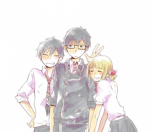 Tags: Anime, Ao no Exorcist, Moriyama Shiemi, Okumura Yukio, Okumura Rin, Pixiv, Blue Exorcist