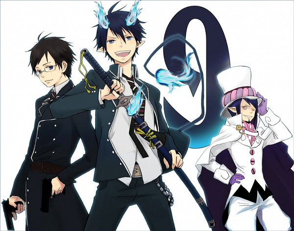 Tags: Anime, Pixiv Id 179513, Ao no Exorcist, Mephisto Pheles, Okumura Yukio, Okumura Rin, Pixiv, Blue Exorcist