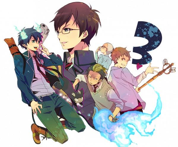 Tags: Anime, Konko, Ao no Exorcist, Kuro (Ao no Exorcist), Okumura Yukio, Shima Renzou, Okumura Rin, Suguro Ryuji, Miwa Konekomaru, Pixiv, Blue Exorcist