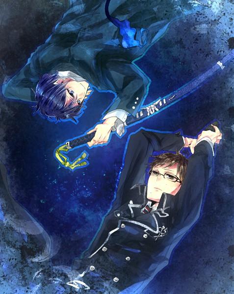 Tags: Anime, Pixiv Id 522860, Ao no Exorcist, Okumura Yukio, Okumura Rin, Pixiv, Blue Exorcist