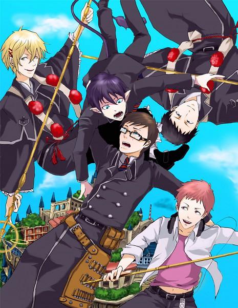 Tags: Anime, Ao no Exorcist, Okumura Yukio, Okumura Rin, Shima Juuzou, Shima Renzou, Shima Kinzou, Shakujou, Shima Brothers, Blue Exorcist