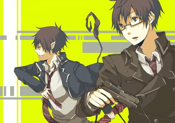 Tags: Anime, Pixiv Id 2303804, Ao no Exorcist, Okumura Yukio, Okumura Rin, Pixiv, Fanart, Blue Exorcist
