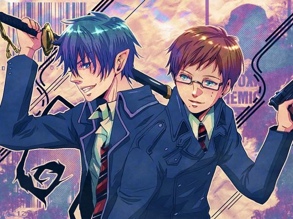Tags: Anime, Pixiv Id 39093, Ao no Exorcist, Okumura Yukio, Okumura Rin, Pixiv, Fanart, Blue Exorcist