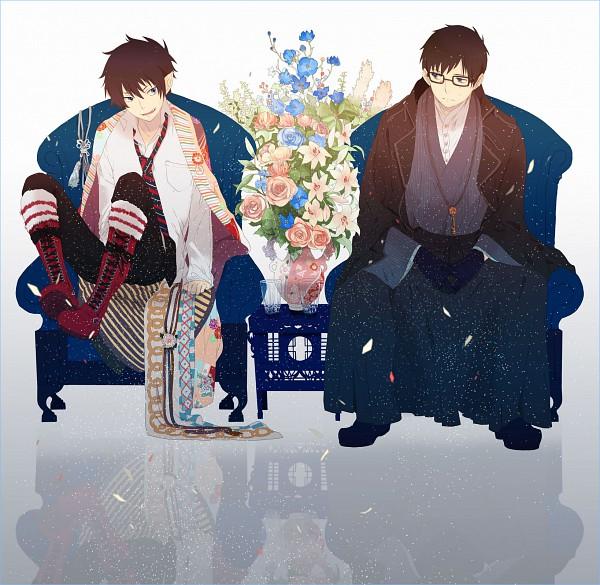 Tags: Anime, Okazaki Oka, Ao no Exorcist, Okumura Rin, Okumura Yukio, Cooking Pot, Fanart, Pixiv, Blue Exorcist
