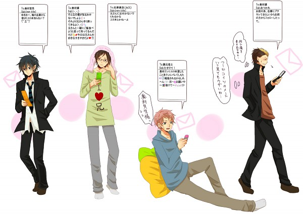 Tags: Anime, Pixiv Id 1738107, Ao no Exorcist, Suguro Ryuji, Okumura Yukio, Okumura Rin, Shima Renzou, Pixiv, Fanart, Blue Exorcist