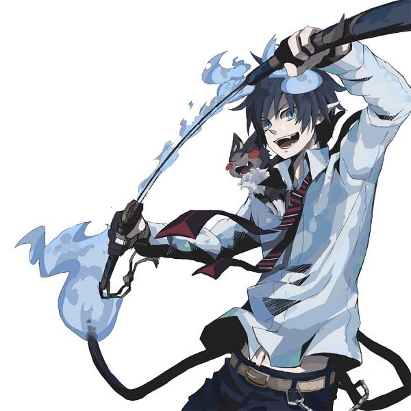 Tags: Anime, Pixiv Id 537049, Ao no Exorcist, Kuro (Ao no Exorcist), Okumura Rin, Pixiv, Fanart, Blue Exorcist
