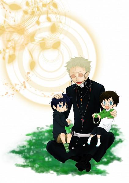 Tags: Anime, Ao no Exorcist, Okumura Rin, Fujimoto Shirou, Okumura Yukio, Blue Exorcist