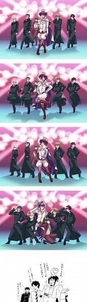 Tags: Anime, Nishime, Ao no Exorcist, Okumura Rin, Mephisto Pheles, Amaimon, Okumura Yukio, SNSD (Parody), K-pop, Pixiv, Genie (Song), Fanart, Blue Exorcist