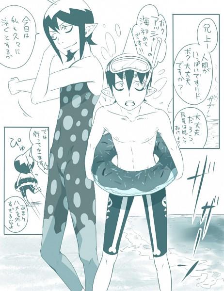 Tags: Anime, Pixiv Id 830626, Ao no Exorcist, Mephisto Pheles, Amaimon, Demon Brothers, Blue Exorcist