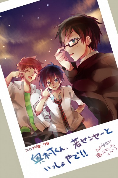 Tags: Anime, Shiroto (Pixiv1781512), Ao no Exorcist, Shima Renzou, Okumura Yukio, Okumura Rin, Blue Exorcist
