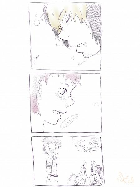 Tags: Anime, Ao no Exorcist, Shima Renzou, Suguro Ryuji, Groceries, Comic, Blue Exorcist