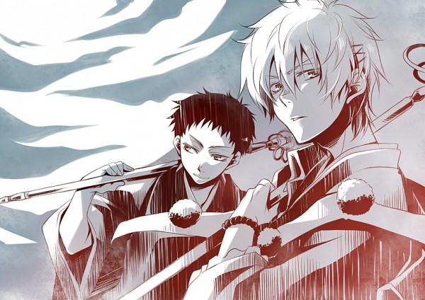 Tags: Anime, Rinko (Usoppachi), Ao no Exorcist, Shima Juuzou, Shima Kinzou, Shakujou, Pixiv, Fanart, Blue Exorcist