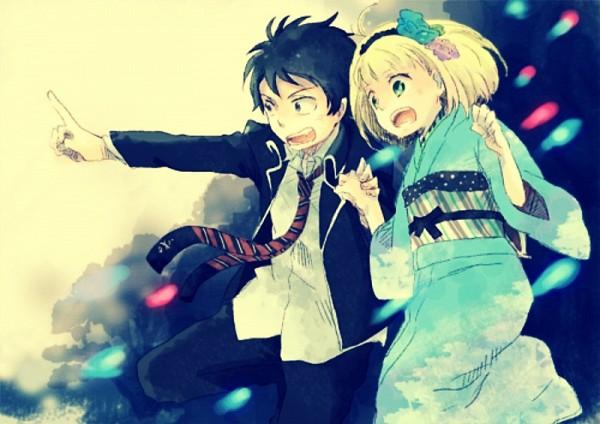 Tags: Anime, Ao no Exorcist, Moriyama Shiemi, Okumura Rin, RinShi, Blue Exorcist