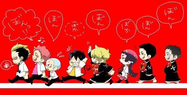 Tags: Anime, Pixiv Id 1028515, Ao no Exorcist, Shima Yaozou, Miwa Konekomaru, Shima Juuzou, Kamiki Izumo, Shima Renzou, Okumura Rin, Shima Kinzou, Suguro Ryuji, Pixiv, Fanart, Blue Exorcist