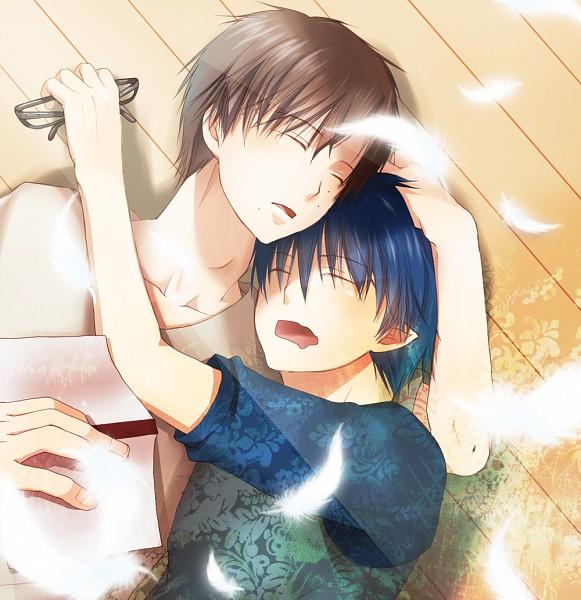 Tags: Anime, Pixiv Id 1562125, Ao no Exorcist, Okumura Yukio, Okumura Rin, Pixiv, Fanart, Blue Exorcist
