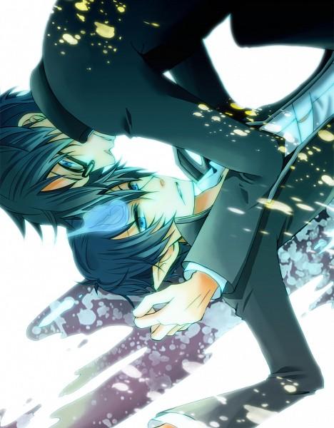 Tags: Anime, Tono (DENTEN.), Ao no Exorcist, Okumura Rin, Okumura Yukio, Pixiv, Fanart, Blue Exorcist